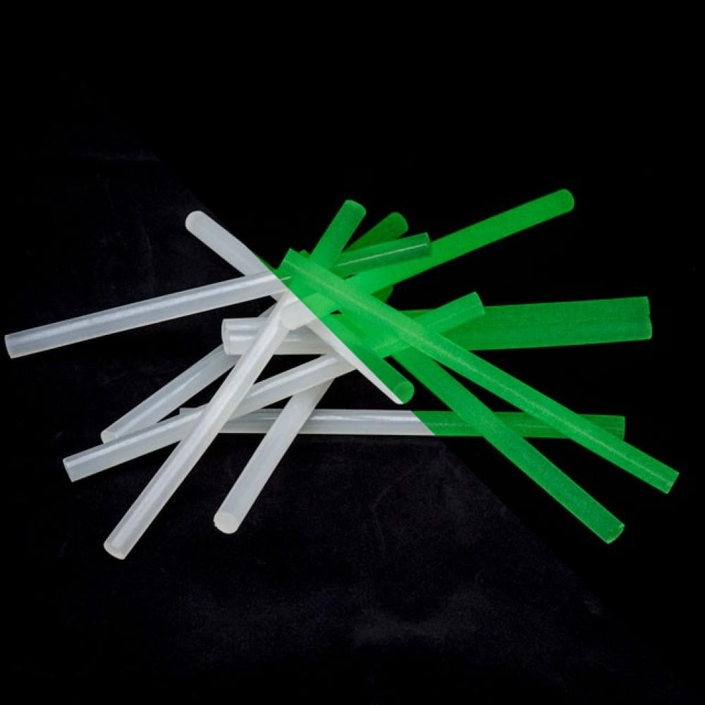 Фото №1 - Комплект флуоресцентных клеевых стержней 11.2 мм*200мм, 12 шт INTERTOOL RT-1038