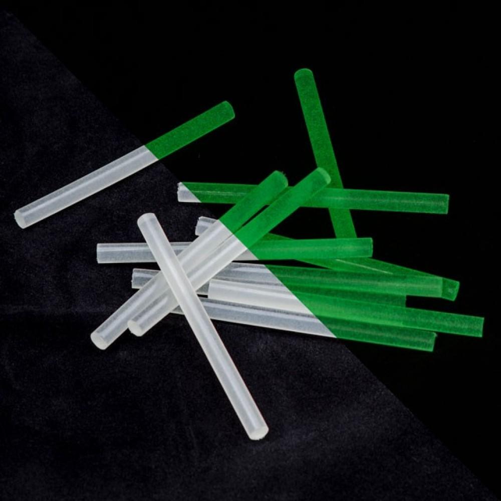 Фото №1 - Комплект флуоресцентных клеевых стержней 7.4 мм*100мм, 12 шт INTERTOOL RT-1039