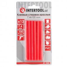 Фото - Комплект красных клеевых стержней 7.4мм*100мм, 12шт. INTERTOOL RT-1043