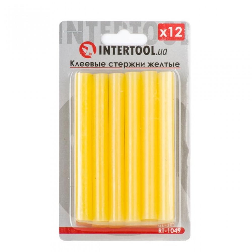 Фото №1 - Комплект желтых клеевых стержней 11.2мм*100мм, 12шт. INTERTOOL RT-1049