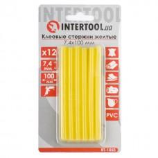 Фото - Комплект желтых клеевых стержней 7.4мм*100мм, 12шт. INTERTOOL RT-1050