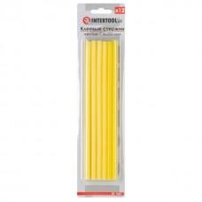 Фото - Комплект желтых клеевых стержней 7.4мм*200мм, 12шт. INTERTOOL RT-1051