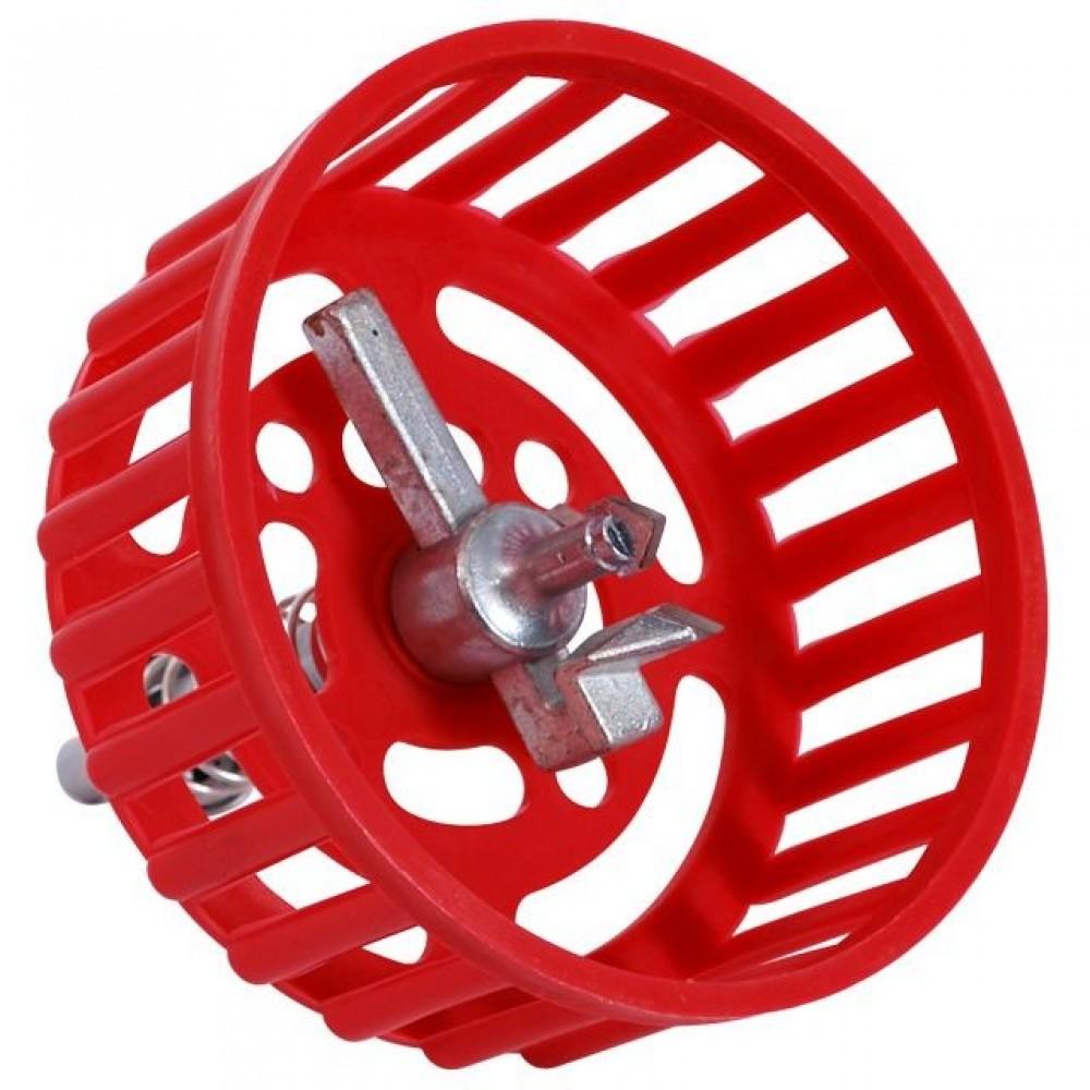 Фото №1 - Циркуль под дрель для резки плитки 20-100 мм с защитной решеткой-опорой INTERTOOL HT-0339