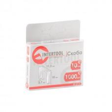 Фото - Скоба 10 мм, уп. 1000 шт., ширина 11,3 мм, сечение 0,70 мм INTERTOOL RT-0110