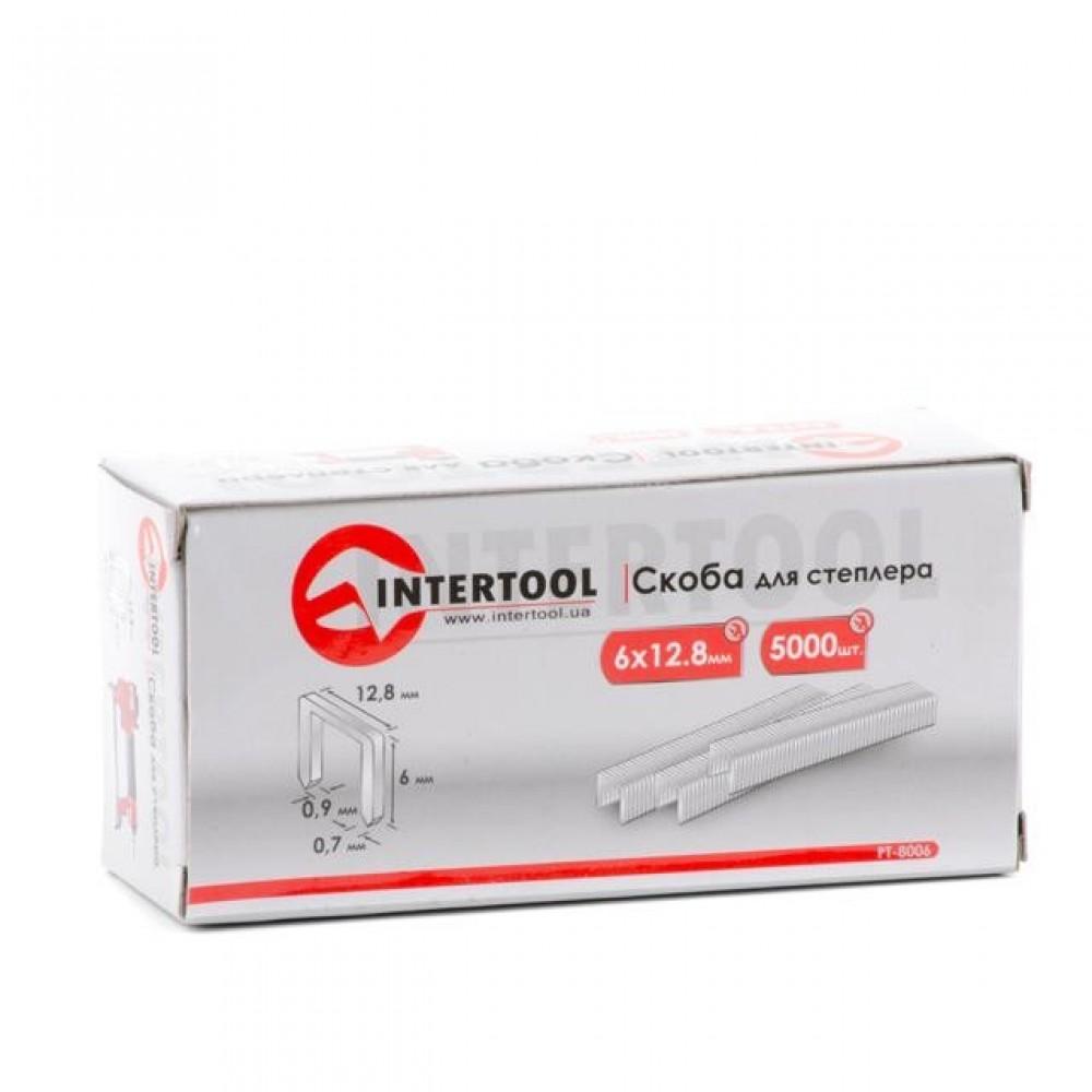Фото №1 - Скоба для степлера РТ-1610 6x12,8 мм (0,9x0,7 мм) 5000 шт/упак. INTERTOOL PT-8006
