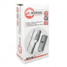 Фото - Комплект: сверло корончатое по бетону 32 мм+Переходник SDS Plus 100мм INTERTOOL SD-7032