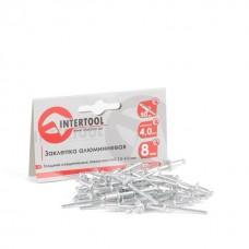 Фото - Заклепка алюминиевая 4,0x8,0 мм, упаковка 50 шт. INTERTOOL RT-4008