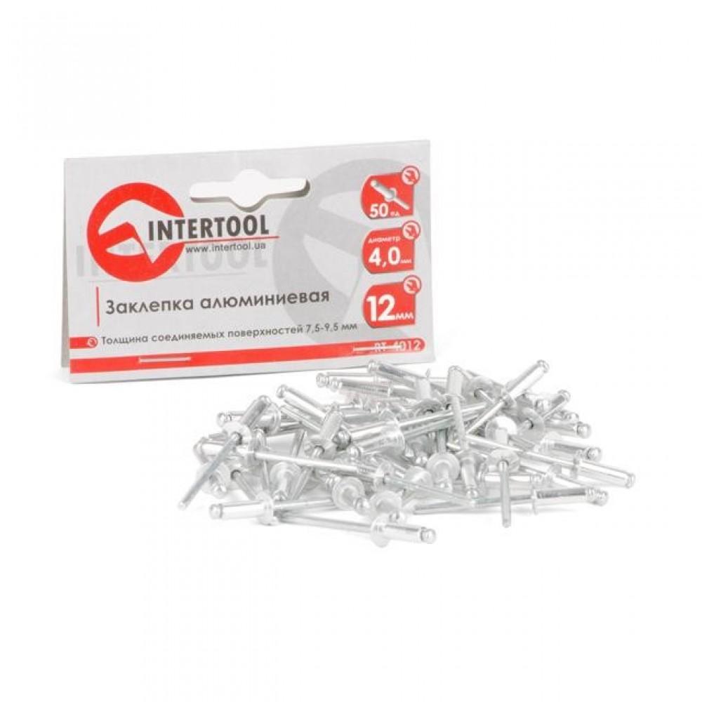 Фото №1 - Заклепка алюминиевая 4,0x12 мм, упаковка 50 шт INTERTOOL RT-4012