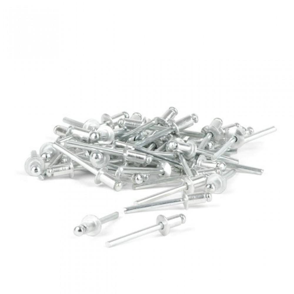 Фото №1 - Заклепка алюминиевая 4,8x8,0 мм, упаковка 50 шт INTERTOOL RT-4808