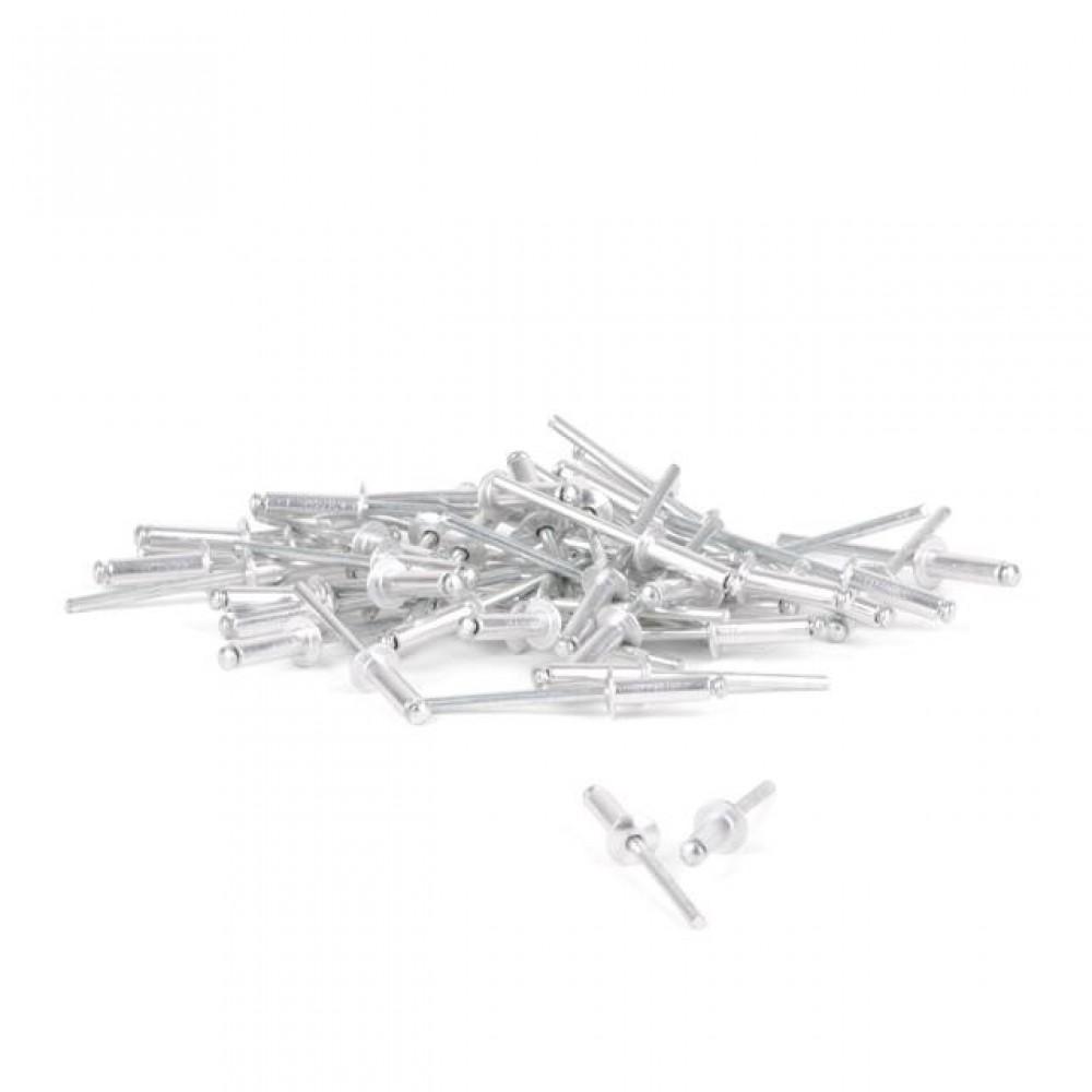 Фото №1 - Заклепка алюминиевая 4,8x14 мм, упаковка 50 шт INTERTOOL RT-4814