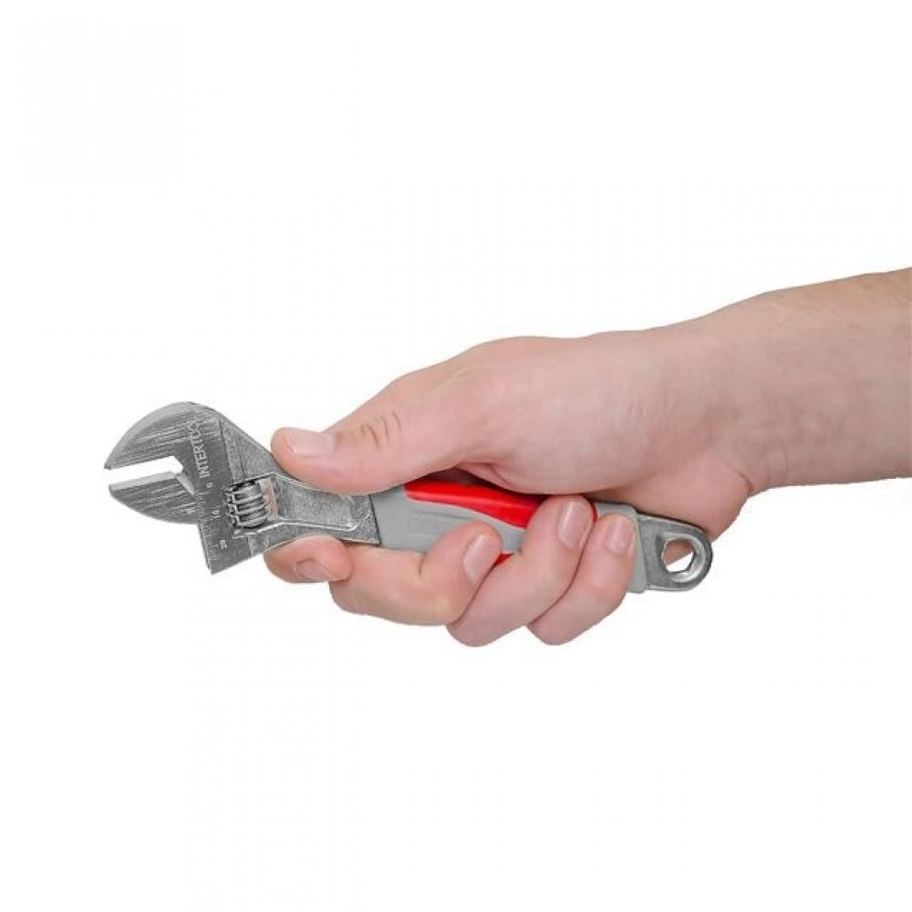 Фото №1 - Ключ разводной 200 мм, изолированная рукоятка, никелевое покрытие INTERTOOL XT-0020
