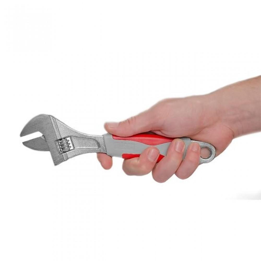 Фото №1 - Ключ разводной 250 мм, изолированная рукоятка, никелевое покрытие INTERTOOL XT-0025