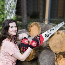Фото - Ножовка по дереву 400 мм с каленым зубом, 3-ая заточка 7 зуб.x1' INTERTOOL HT-3104