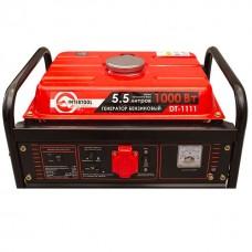 Фото - Генератор бензиновый макс. мощн. 1,2 кВт., ном. 1 кВт., 3,0 л.с., 4-х тактный, ручной пуск 26,5 кг. INTERTOOL DT-1111