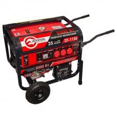 Фото - Генератор бензиновый макс. мощн. 6 кВт., ном. 5,5 кВт., 13 л.с., 4-х тактный, электрический и ручной пуск, комплект колес и ручек, 96 кг. INTERTOOL DT-1155
