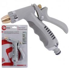 Фото - Пистолет-распылитель для полива хромированный с плавной регулировкой потока воды. ABS, PP, TPR, ZINC ALLOY, BRASS INTERTOOL GE-0013