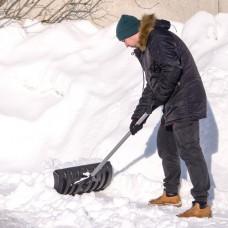 Фото - Лопата для уборки снега 620*280мм с ручкой 970 мм INTERTOOL FT-2090