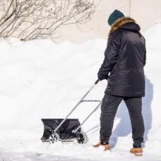 Фото - Ковш для уборки снега на колесах 660*320 мм, ручка 1080 мм INTERTOOL FT-2095