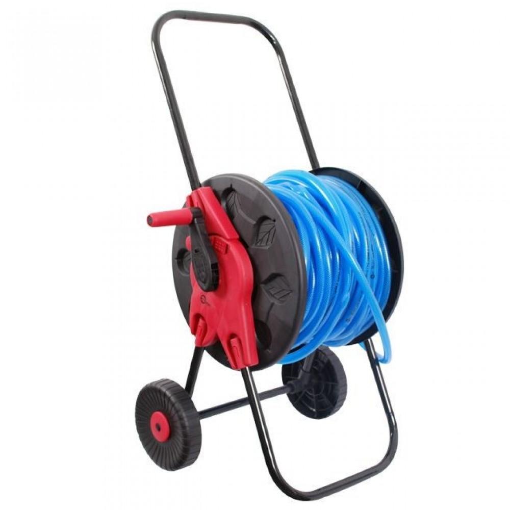 Фото №1 - Катушка на колесах для шланга 1/2' 60 м, PP, steel, ABS INTERTOOL GE-3001