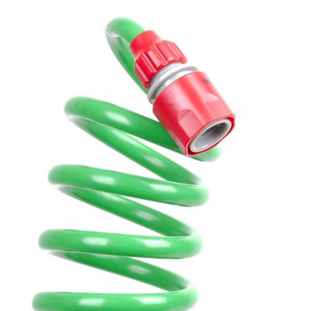 Фото №1 - Шланг для полива спиральный 15 м с конекторами INTERTOOL GE-4002