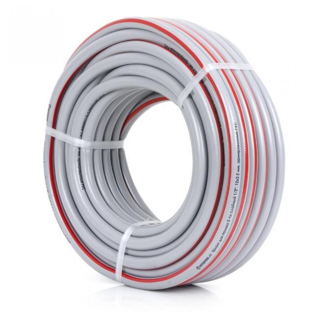 Фото №1 - Шланг для полива 5-ти слойный 1/2', 30м, армированный PVC INTERTOOL GE-4133