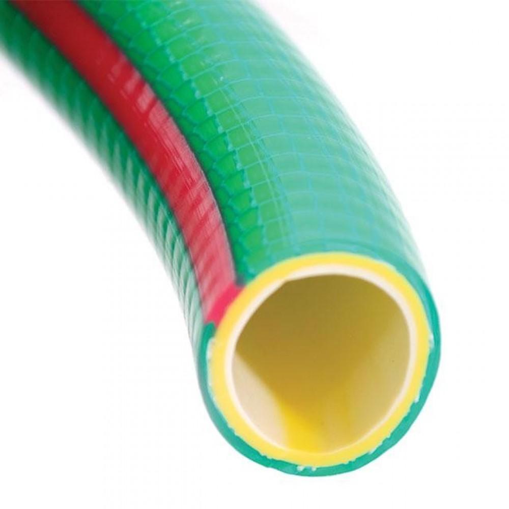 """Фото №1 - Шланг для воды 4-х слойный 1/2"""", 10 м, армированный, PVC INTERTOOL GE-4101"""