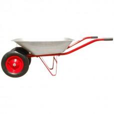 Фото - Тачка садово-строительная, 65 л., 140 кг, 2 пневмоколеса с подшипником 14' (3.50-8). INTERTOOL WB-0623