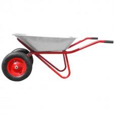 Фото - Тачка садово-строительная, 65 л., 160 кг, 2 пневмоколеса с подшипником 14' (3.50-8). INTERTOOL WB-0625