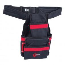 Фото - Сумка поясная слесарно-строительная, 3 кармана, полиэстер INTERTOOL SP-1014