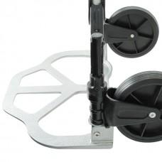 Фото - Тележка ручная складная до 80 кг, 450*485*1090, колеса 170 мм, (алюминиевая) INTERTOOL LT-9010