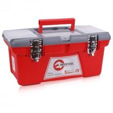 Фото - Ящик для инструментов с металлическими замками, 16' 415x210x190 мм INTERTOOL BX-0516