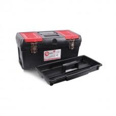 "Фото - Ящик для инструментов с металлическими замками, 19"" 483x242x240 мм INTERTOOL BX-1019"