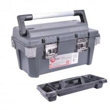 Фото - Ящик для инструмента с металлическими замками 20' 500x275x265 мм INTERTOOL BX-6020