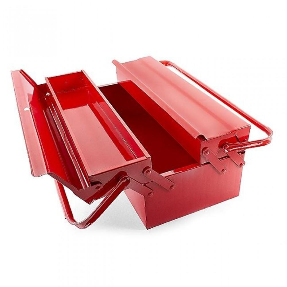 Фото №1 - Ящик для инструментов металлический 450 мм, 3 секции INTERTOOL HT-5043