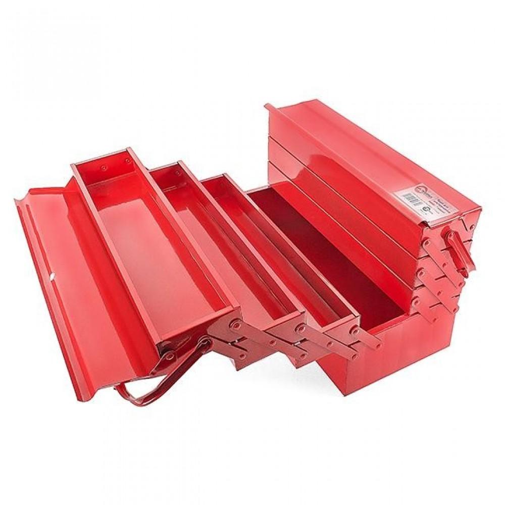 Фото №1 - Ящик для инструментов металлический 450 мм, 7 секций INTERTOOL HT-5047
