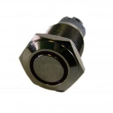 Фото - Кнопка антивандальная с подсветкой 16мм без фиксации, 12V PBS