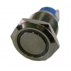 Фото - Кнопка антивандальная с подсветкой 19мм без фиксации, 12V PBS