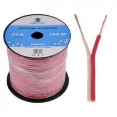Фото - Кабель акустический 2*0.5мм2 CCA extra flexible, прозр., 100м
