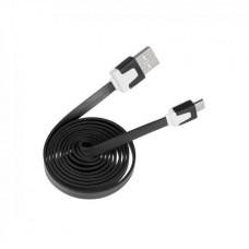Фото - Кабель micro USB - USB черный плоский