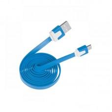 Фото - Кабель micro USB - USB  голубой плоский
