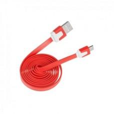 Фото - Кабель micro USB - USB  красный плоский