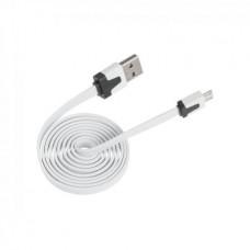 Фото - Кабель micro USB - USB белый плоский