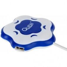 Фото - USB-хаб, 4 порта сине-белый Quer