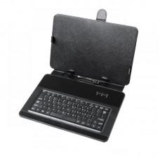 """Фото - Чехол для планшета 10.1"""" с клавиатурой micro USB, черный, QUER"""