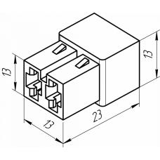 Фото - Контактная колодка (штырь+гнездо), 2 контакта (КП-2)