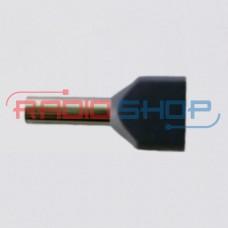 Фото - Оконцеватель провода двойной 2*2,5мм², изолированный (100шт.)